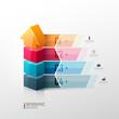Vector template fo presentation. Growth concept.