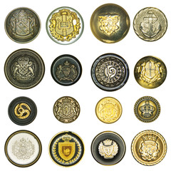 elegant retro style sewing buttons collection