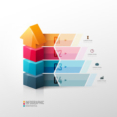 Vector template fo presentation. Growth concept.