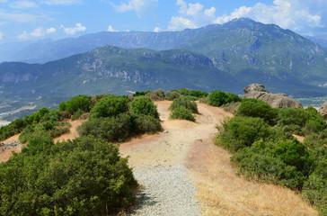 The road on the mountain. Beautiful mountain views.