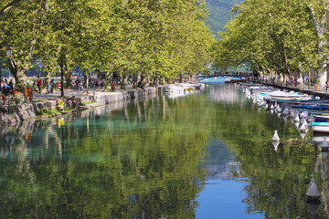 Annecy canals and boats