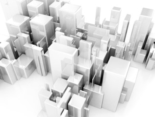 Abstract cityscape 3d background