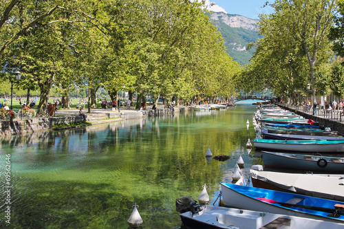 Papiers peints Alpes Annecy lake and boats
