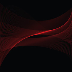 An abstract vector background of swirled lines and curves