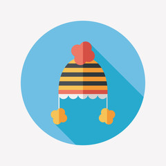 baby hat flat icon with long shadow,eps10