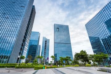 modern international business operations center