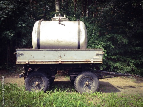 canvas print picture tiny water trailer