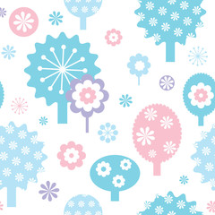 Floral baby pattern