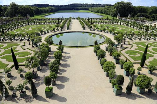 canvas print picture Symmetrische Gartengestaltung Schloss Versailles