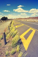 Long road through African karoo