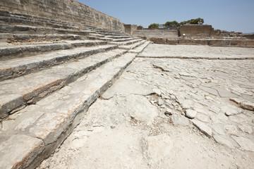 Phaestos minoan palatial city ruins in Crete. Greece