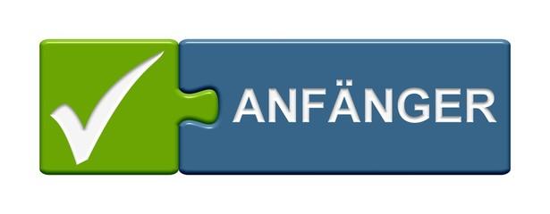 Puzzle-Button grün blau: Anfänger