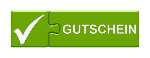 Puzzle-Button grün: Gutschein