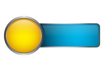 Button Vorlage - gelb blau