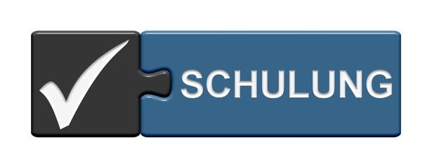 Puzzle-Button grau blau: Schulung