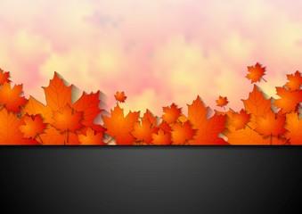 Bright corporate autumn background