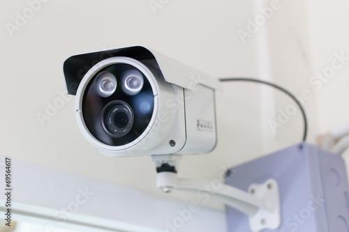 Kamera bezpieczeństwa CCTV w budynku