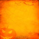 Fototapety Grunge orange halloween background