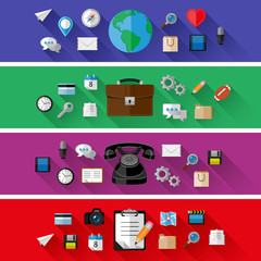 Set of web and business concepts. Flat design