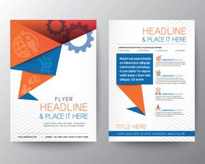 Abstract Triangle Brochure Flyer design Vector Layout in A4 size