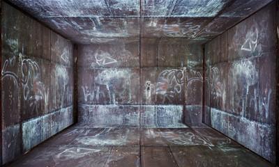 Grunge Metal Room Urban Interior Stage