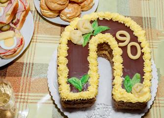 homemade birthday cake for ninety anniversary