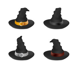 Witch hat icon set