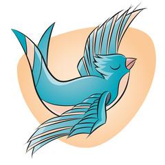 schwalbe tattoo vogel vektor illustration vorlage