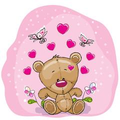 Teddy Bear with flowers