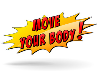 Vector move your body icon