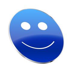 Smiley 3d blau