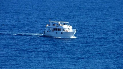 Motor yacht at sea