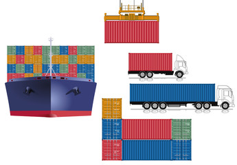 Container Transport Logistik
