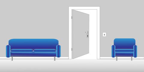 Zimmer und Sofa