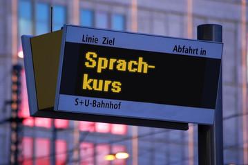 Anzeigetafel 1 - Sprachkurs