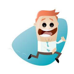 laufen cartoon eilig mann rennen