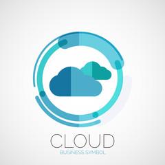 Cloud storage, company logo, minimal design