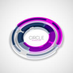 Futuristic rings, company logo, 3d design