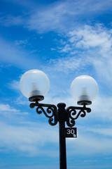 Light pole at the beach