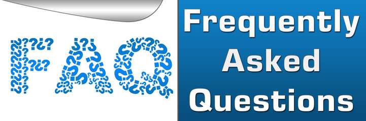 FAQ Filled With Question Mark Horizontal