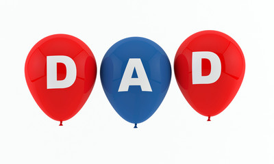 Dad - Father - Balloons