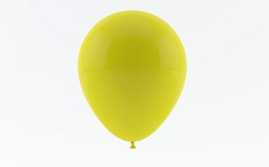 Yellow balloon isolated on white