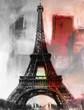 canvas print picture - Paris Gemälde Eiffelturm Eifelturm Bild Kunst Ölgemälde