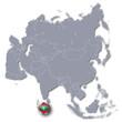 Asienkarte mit den Malediven