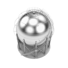 Storage LPG Tank isolated on white background