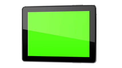 Moving tablet phone concept with tracking points