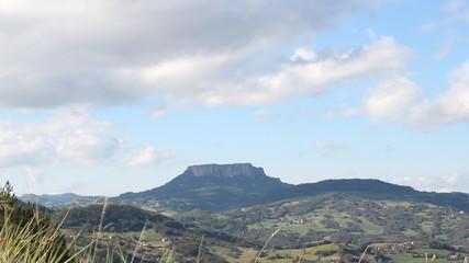 time lapse Pietra di Bismantova mount in Emilia , Italy