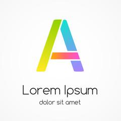 Logo letter A company vector design template.