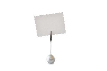 Klemmständer mit papier; zettel klemme; büroklemme; Notizhalter