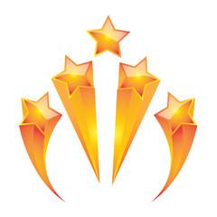gold star set  vector illustrator design